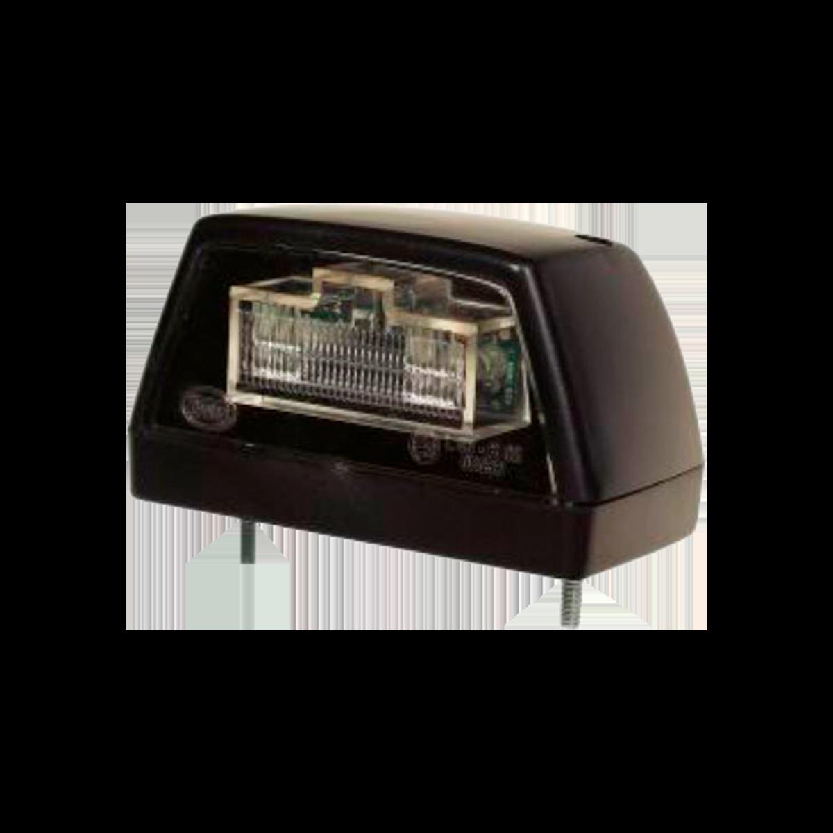 License Plate Light LED 24V, Black